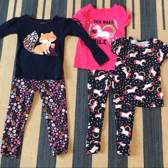469a2a963 Carter's Pajamas | Sale5 Piece Carters Girls 3t Pj Bargain Bundle ...
